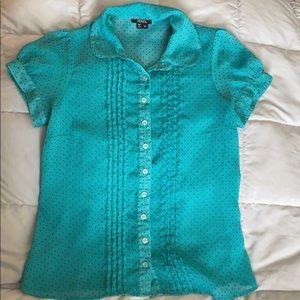 XOXO sheet button up blouse